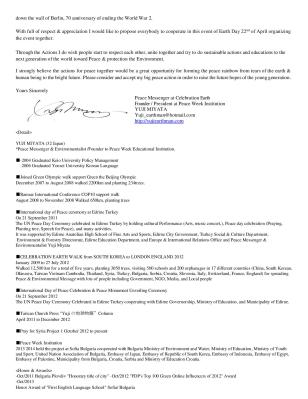 peace week official invitation letter to Chancellor of Germany Angela Merkel for Symbol of Peace tree planting at Berlin Wall-page-002