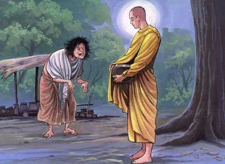 Image result for poor man and buddha