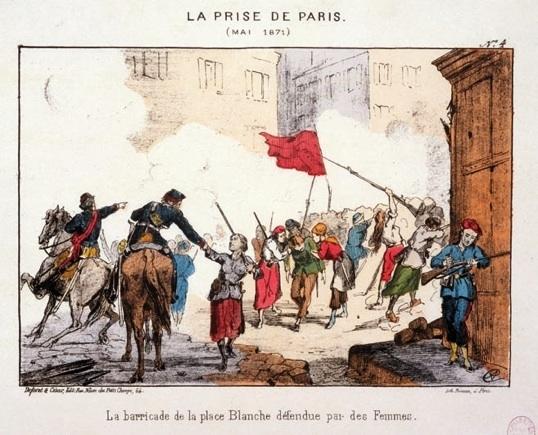 La_barricade_de_la_place_Blanche_défendue_par_des_femmes_lors_de_la_Semaine_sanglante