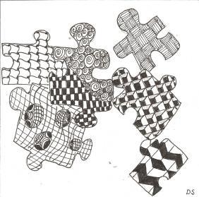 puzzle pieces zentangle