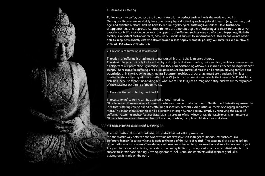 the four noble truths  rya satya The four noble truths are the most basic expression of the buddha's teaching as ven thus the study of the four noble truths is aimed first at understanding these four categories, and then at applying them to experience so that one may act properly toward each of the categories and thus.