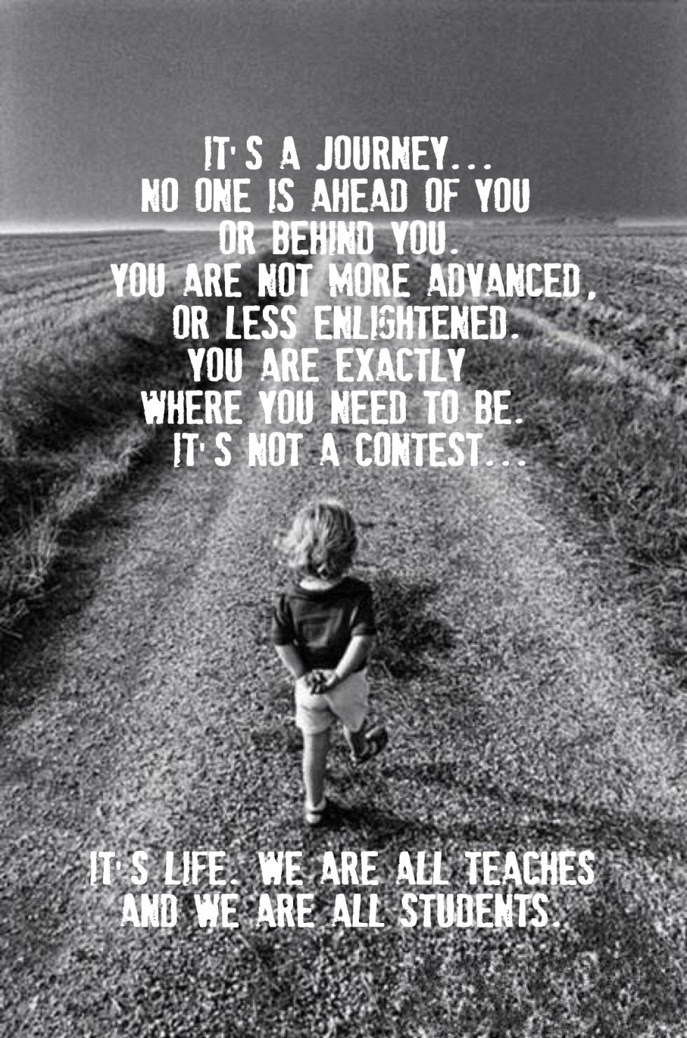 it is a journey