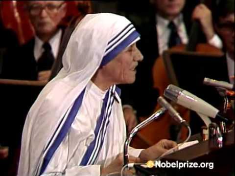 Mother Teresa Nobel Prize Winner Acceptance Speech by M...